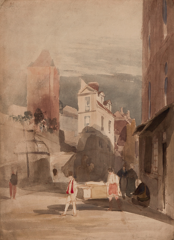 BOYS Thomas Shotter (1803-1874) - France; 'St Jacques, Dieppe'.