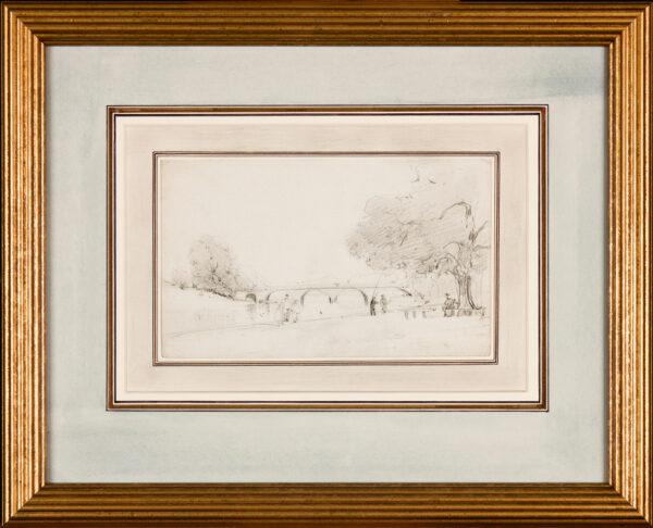 BOYS Thomas Shotter (1803-1874) - London; The Serpentine, Hyde Park.