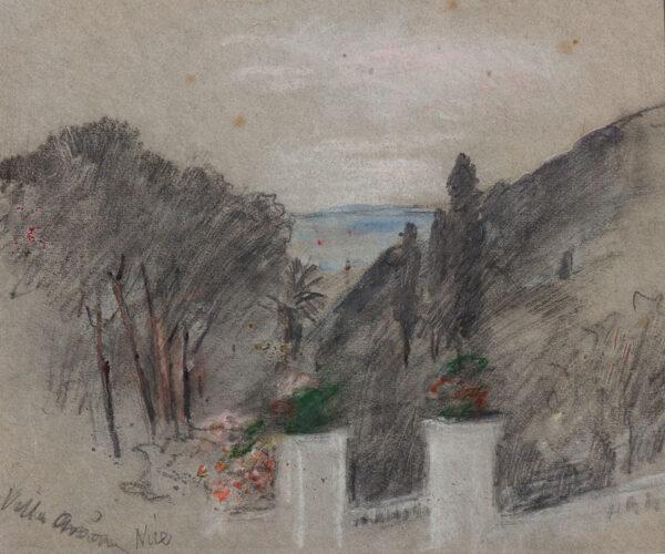 BRABAZON Hercules Brabazon N.E.A.C. (1821-1906) - 'Villa Arson, Nice'.