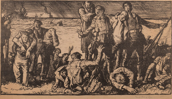 BRANGWYN Sir Frank R.A. R.E. R.W.S. (1867-1956) - Lithograph printed by the Avenue Press for The Daily Chronicle.