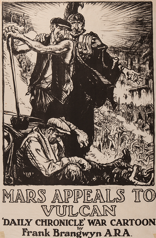 BRANGWYN Sir Frank R.A. R.E. R.W.S. (1867-1956) - 'Mars appeals to Vulcan'.