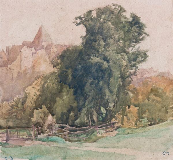 BRANGWYN Sir Frank R.A. R.E. R.W.S. (1867-1956) - 'The Tree, Ditchling'.