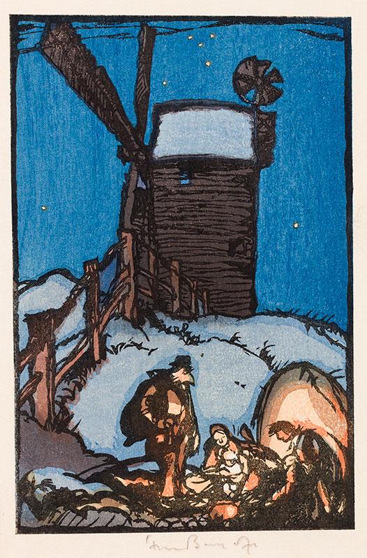BRANGWYN Sir Frank R.A. R.E. R.W.S. (1867-1956) - Nativity.