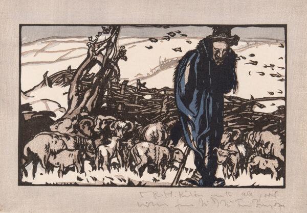 BRANGWYN Sir Frank R.A. R.E. R.W.S. (1867-1956) - A Winter Fold.