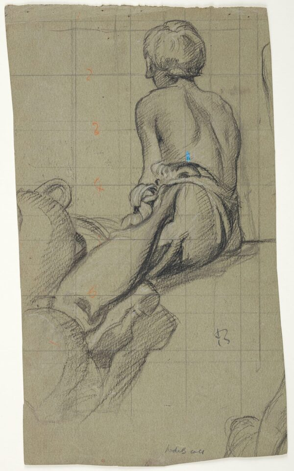 BRANGWYN Sir Frank R.A. R.E. R.W.S. (1867-1956) - Study of a seated water carrier.