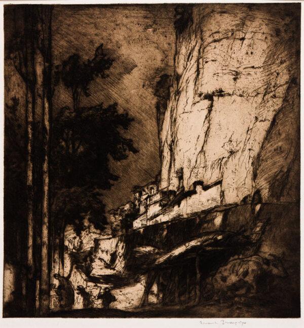 BRANGWYN Sir Frank R.A. R.E. R.W.S. (1867-1956) - Spanish landscape.