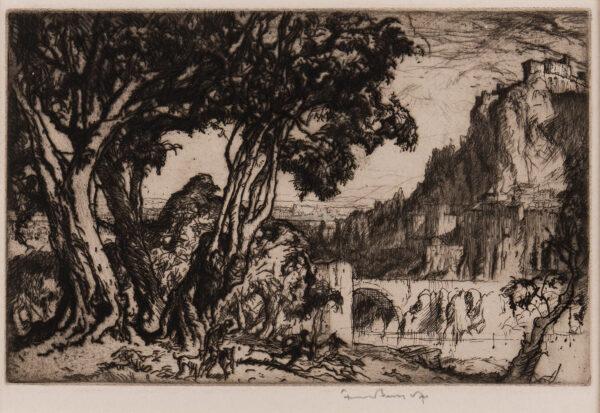 BRANGWYN Sir Frank R.A. R.E. R.W.S. (1867-1956) - 'A Romantic Landscape' (G.