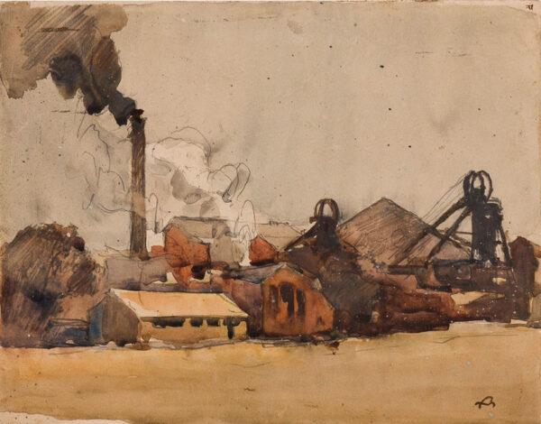 BRANGWYN Sir Frank R.A. R.E. R.W.S. (1867-1956) - Coal mine.