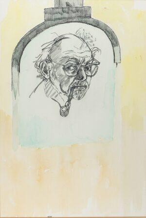 BRATBY John R.A. (1928-1992) - Self-portrait.
