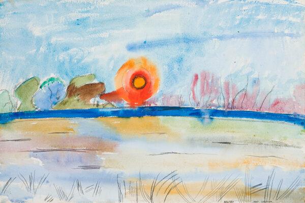 BRATBY John R.A. (1928-1992) - 'Kent, Sundown'.