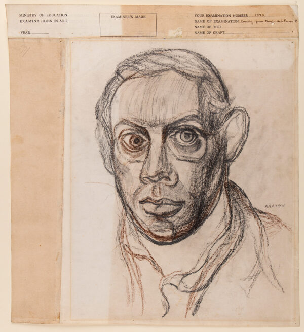 BRATBY John R.A. (1928-1992) - Head of a Man.