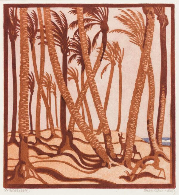 BRESSLERN-ROTH Norbertine (1891-1978) - 'Gazelles'.