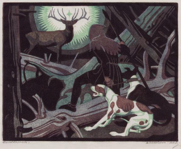 BRESSLERN-ROTH Norbertine (1891-1978) - 'St Hubert II'.