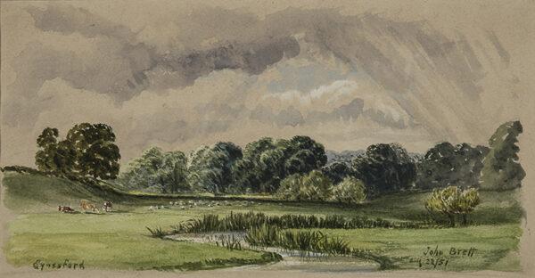 BRETT John A.R.A. (1831-1902) - 'Eynesford', Kent.