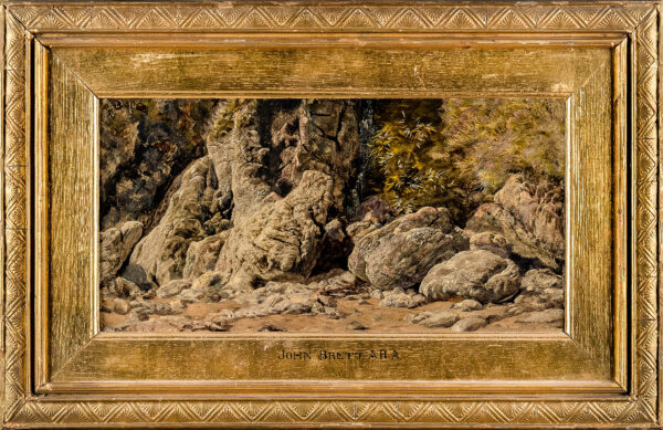 BRETT John A.R.A. (1831-1902) - 'On the Guernsey Coast – rock study' (CP.
