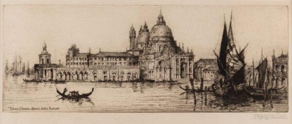 BREWER James Alphege (1881-1946) - 'Santa Maria della Salute, Venice'.
