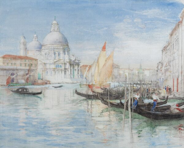 BREWER Henry Charles R.I. (1866-1950) - 'The Salute', Venice.