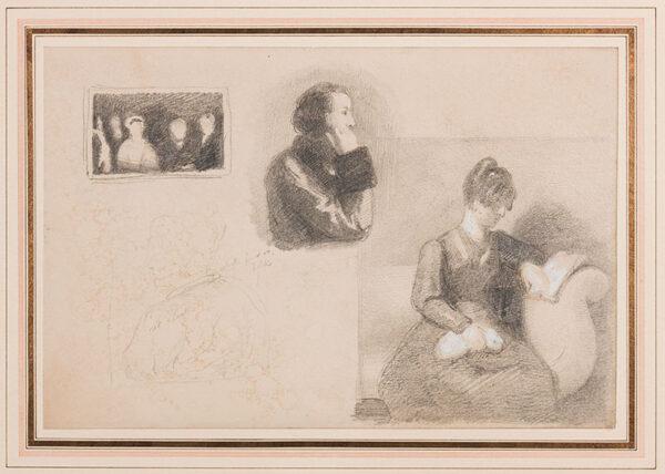 BRIGGS Henry Perronet R.A. (1973-1844) - Studies for portraits.