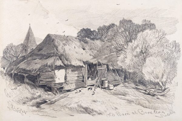 BRIGHT Henry (1810-1873) - 'Sussex: Old Barn at Berstead' (sic.