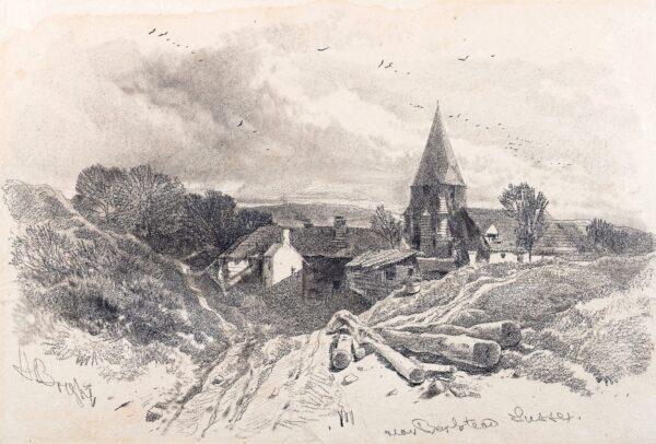 BRIGHT Henry (1810-1873) - 'Sussex: near Berstead'(sic.