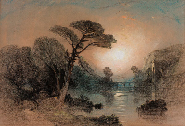 BRIGHT Henry (1810-1873) - Capriccio landscape.