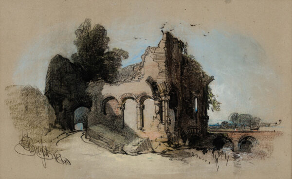 BRIGHT Henry (1810-1873) - 'The Abbey'.