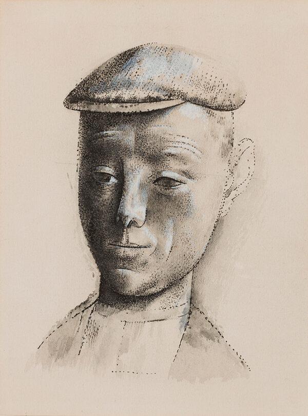 BRILL Reginald (1902-1974) - Head of a Cowman.