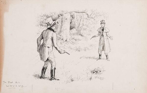 BROCK Charles Edward R.I. (1870-1938) - 'The Duel'.