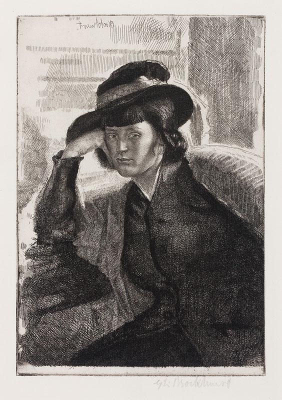 BROCKHURST Gerald Leslie R.A. R.E. (1890-1978) - 'Une Dacquoise – Anais' (Fletcher 29).