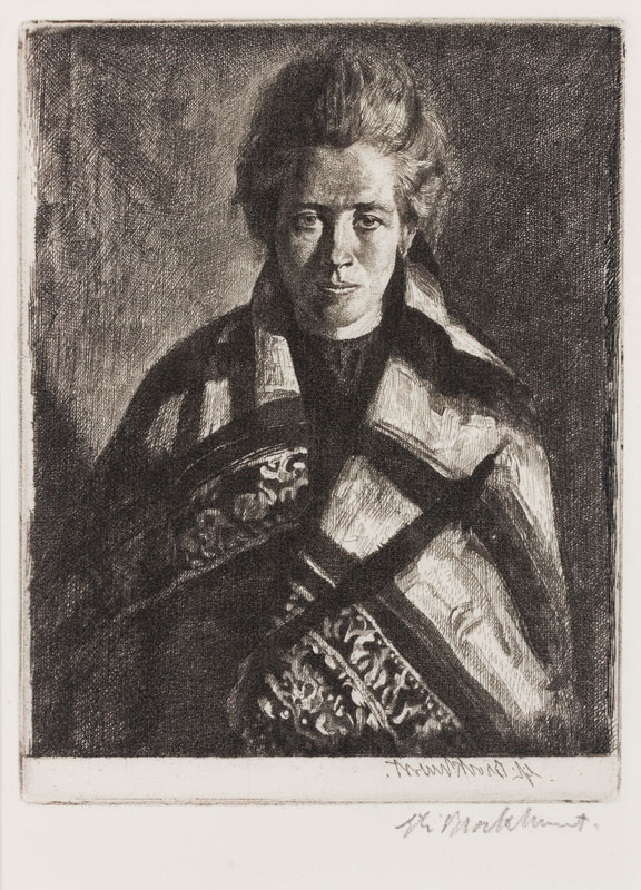 BROCKHURST Gerald Leslie R.A. R.E. (1890-1978) - 'A Ballynakill Woman' (Fletcher 53).