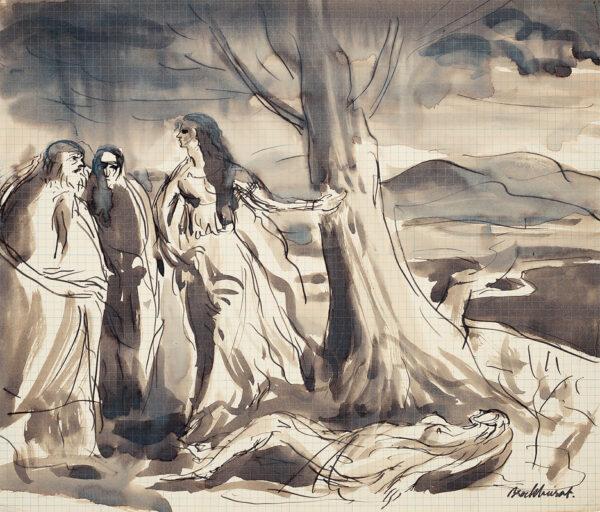 BROCKHURST Gerald Leslie R.A. (1890-1978) - Tragic scene.