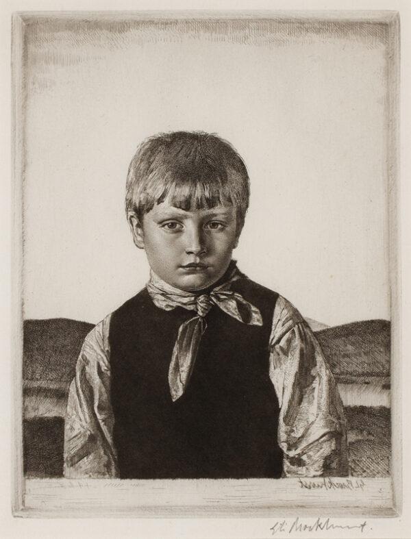 BROCKHURST Gerald Leslie R.A. (1890-1978) - Study for 'The Amberley Boy'.