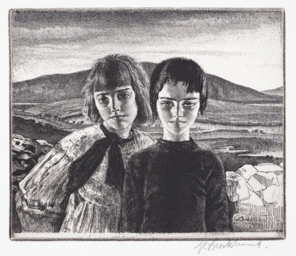 BROCKHURST Gerald Leslie R.A. R.E. (1890-1978) - 'The West of Ireland', Conemara.
