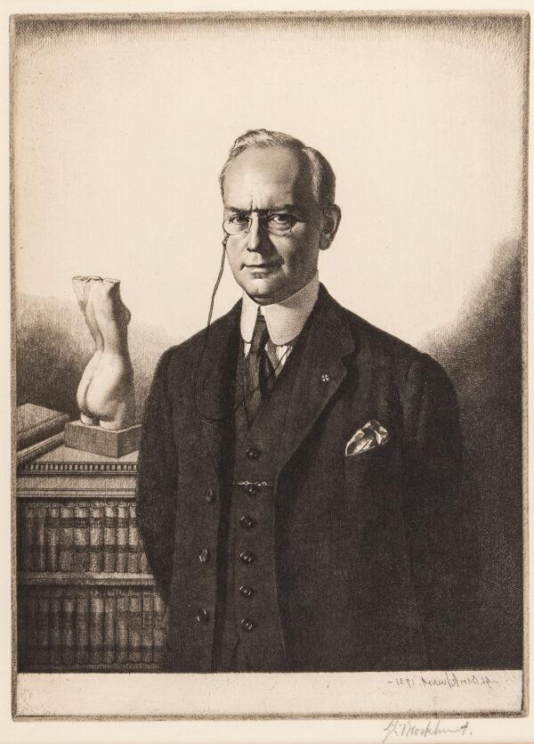 BROCKHURST Gerald Leslie R.A. R.E. (1890-1978) - 'Charles Carpenter Esq C.