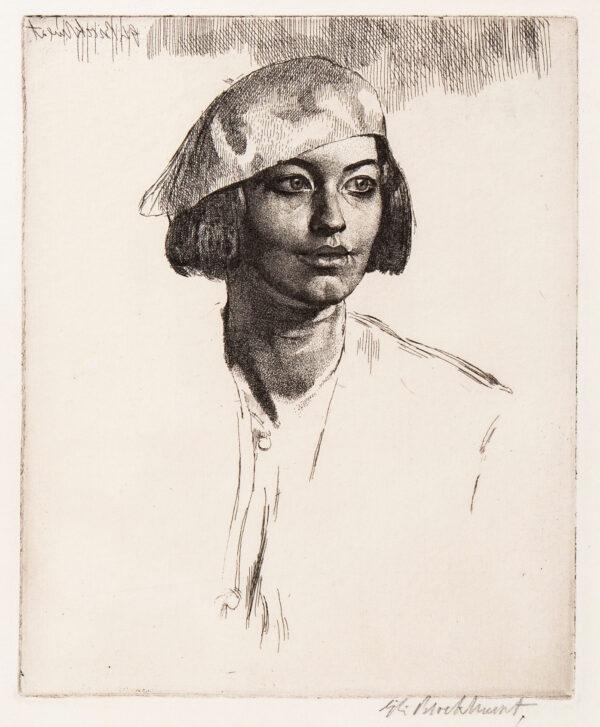 BROCKHURST Gerald Leslie R.A. R.E. (1890-1978) - 'Chiquita' (F.