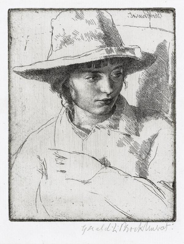 BROCKHURST Gerald Leslie R.A. R.E. (1890-1978) - 'Yolande' (Mrs Florence Rushbury).