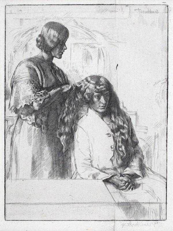 BROCKHURST Gerald Leslie R.A. R.E. (1890-1978) - 'Deux Landais' (W.