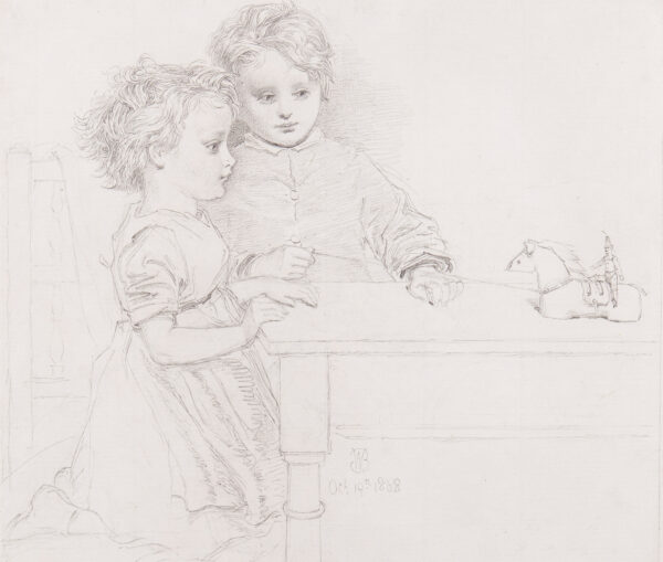 BROOKES Warwick (1808-1882) - 'Home-made playthings'.
