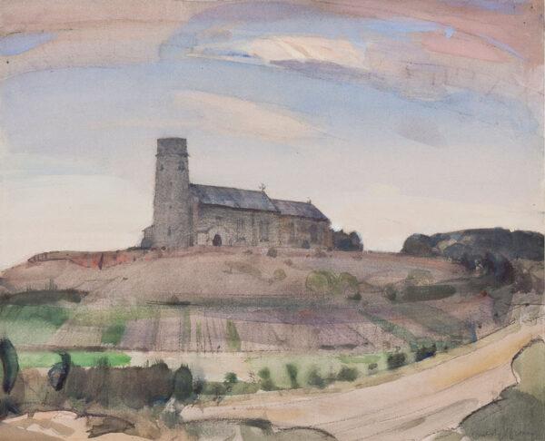 BROWN John Arnesby R.A. (1866-1955) - Haddiscoe Church.