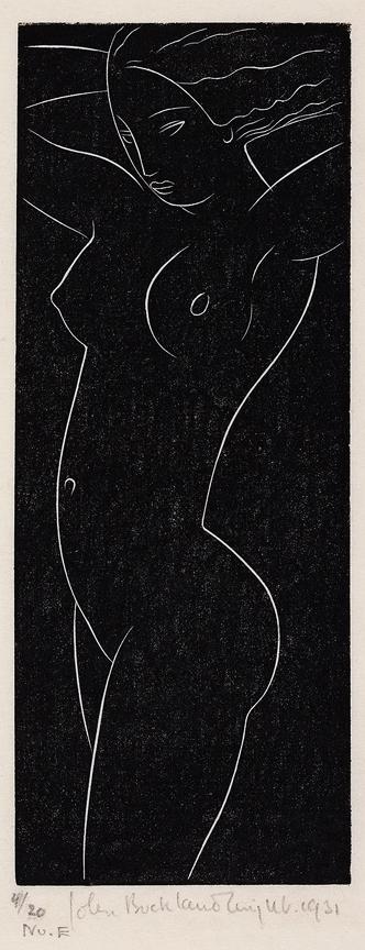 BUCKLAND-WRIGHT John (1897-1854) - Nude.