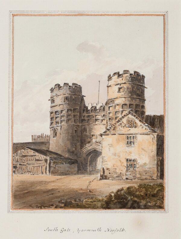 BUCKLER John Chessell (1793-1894) - 'South Gate, Yarmouth, Norfolk'.