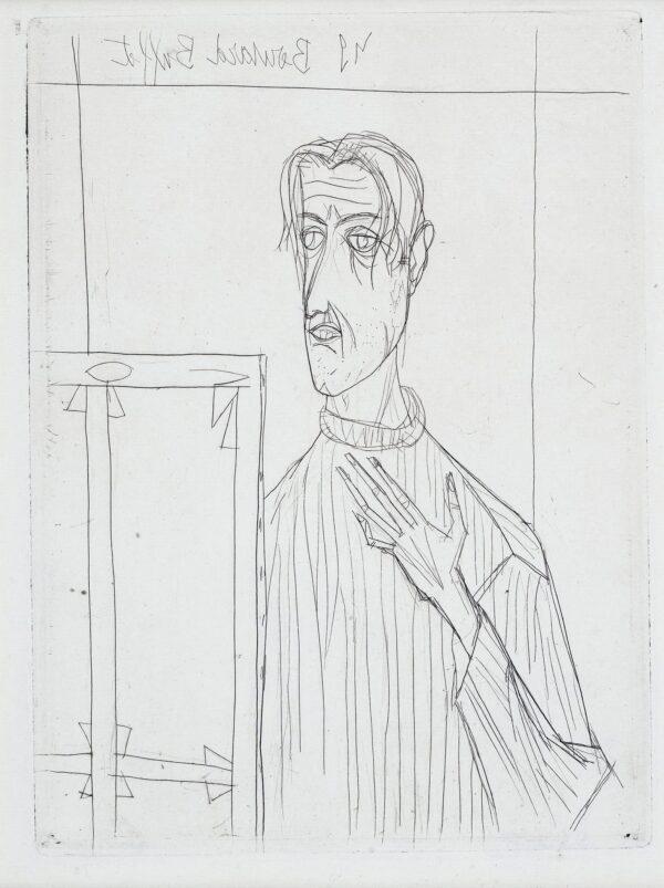 BUFFET Bernard (1928-1999) - Self-portrait.