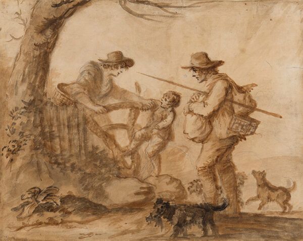 BUNBURY Henry William (1750-1811) - A Rustic family.