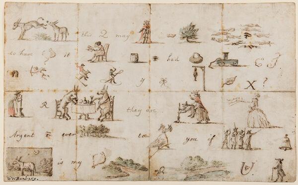 BUNBURY Henry William (1750-1811) - Pictogram letter.