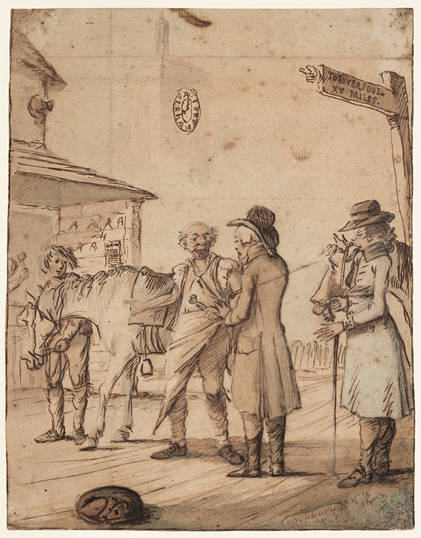 BUNBURY Henry William (1750-1811) - 'XV miles to Liverpool'.