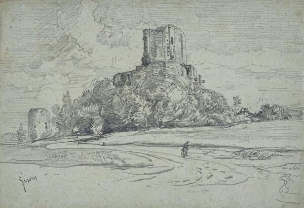 BURGESS John Jnr A.O.W.S. (1814-1874) - 'Gisors', Normandy.