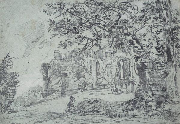 BURGESS John Jnr A.O.W.S. (1814-1874) - Remains of Kenilworth Castle.