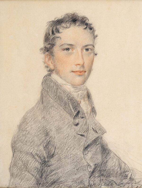 BURNELL Benjamin (1769-1828) - Portrait of a Young Man.