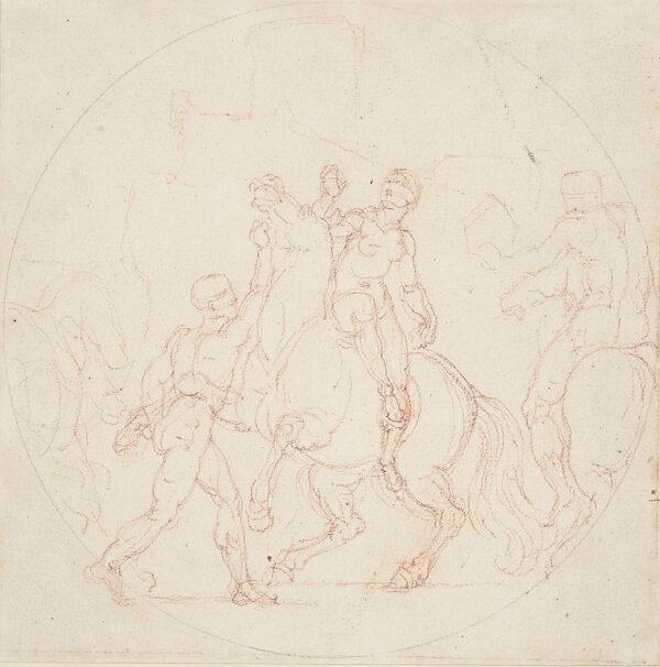 BURNEY Edward Francis (1760-1848) - Study for a roundel.