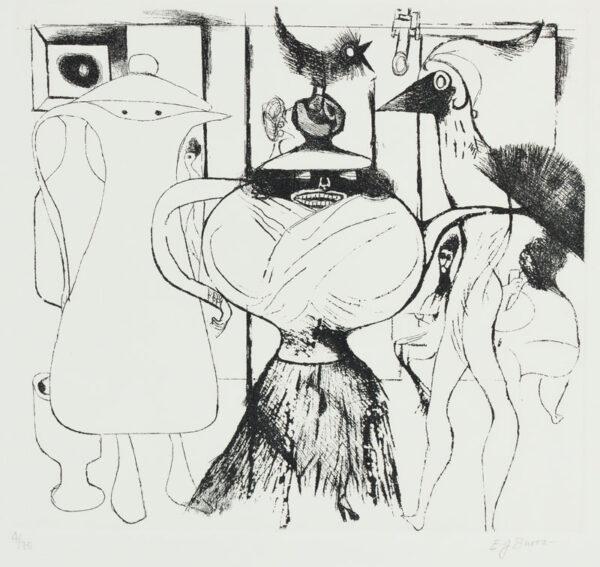 BURRA Edward (1905-1976) - 'Surreal Cafe'.